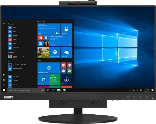 Lenovo ThinkCentre Tiny-In-One 24, LED-Monitor (schwarz, DisplayPort, USB, Webcam, Touchscreen)