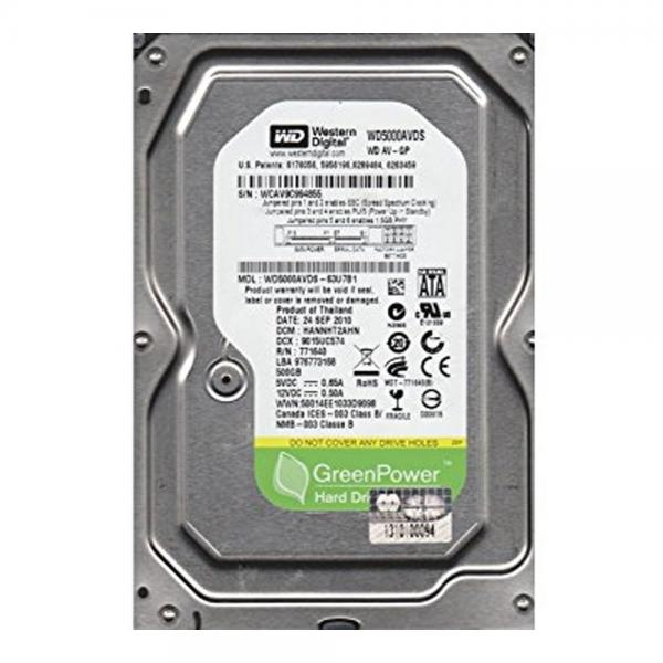 HDD 500GB SATA WD WD5000AVDS 3,5 pull/refurbished